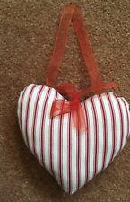 Heart Wall Cushion Red Stripe 12x10cm