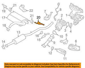 VOLVO OEM 10-15 XC60 3.2L-L6 Exhaust-Rear Muffler Bracket Left 30792498