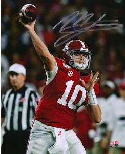 Mac Jones Autographed Signed Autographed 8x10 Photo Alabama Patriots Fanatics