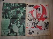 2x L'UNO IL SETTIMANALE MENSILE Nos 3 + 5 (1976)