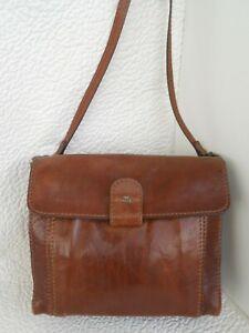 THE BRIDGE vintage postino bella borsa tracolla in pelle color cuoio