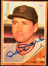 1962 Topps Al Alvin Dark Card Signed JSA COA Autographed Authentic MLB Baseball