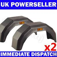 "2x Plastic Trailer Mudguard Mud Guard 12"" 13"" 14"" wheel"