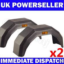 "2x Plastic Trailer Mudguard Mud Guard 12"" 13"" 14"" wheel"