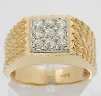 ♦♦Damen Herren Ring in aus 14kt Gelb Weiß Gold mit Diamanten Diamant Diamantring