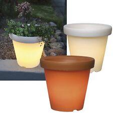 LED Illuminé Pot à Fleurs Pot de Fleur Bac Lumineux Extérieur