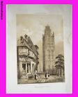 """Litho """"La Normandie illustrée"""" Tour de la Madeleine (Eure) - Félix BENOIST"""