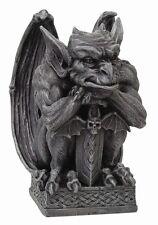 Gargoyle With Sword Statue Guardian Figurine.Unique Decorative Collectible