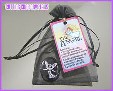 Angel Wishing Stone / Paperweight / Pewter / Charm / Good Luck
