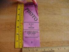 1971 USC vs Oregon mens Basketball press pass ribbon vintage