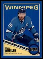 2019-20 OPC Platinum Retro Rainbow Blue #R-14 Blake Wheeler /149 - Winnipeg Jets