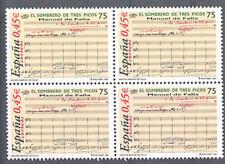 2001 MANUEL DE FALLA EL SOMBRERO DE TRES PICOS EDIFIL 3838 ** MNH B4   TC12475