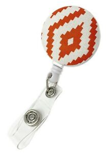 Swivel Clip Fabric Retractable Reel with for ID Badge Holder (Red, Blue)