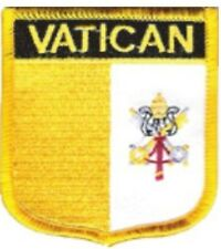 """VATICAN SHIELD FLAG EMBROIDERED PATCH -- IRON-ON -- NEW 2.5"""" x 2.75"""""""