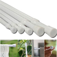 Spring Load Extendable Telescopic Net Voile Tension Curtain Rail Pole Rod No
