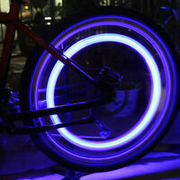 New Silicone Bike Bicycle Cycling Head Front Rear Wheel LED Flash Light Lamp x 2