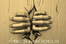3d Model Stl For Cnc Router Engraver Carving Artcam Aspire Hands Tree Wood N997