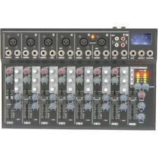 Tables de mixage pour équipements audio et vidéo professionnels avec 8 canaux