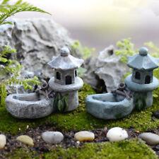 B0AE Beautiful Figurines Pond Tower Courtyard Bonsai Decor Garden Miniature