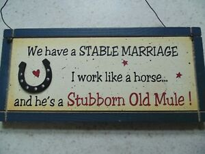 Funny Hanging Wooden Sign 12'' x 5.5''