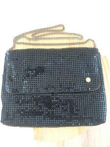 Handbag Black By Glomesh C1950s 60s Collector Perfect Condition Ref:O75