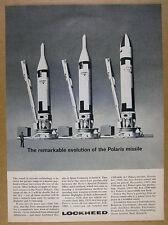 1962 Lockheed Navy A-1 2 3 Polaris Missile vintage print Ad