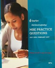 BarBri MBE MULTISTATE PRACTICE QUESTIONS (MPQ) 2016 ~ 2017