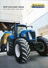 New Holland T8000 2011 catalogue brochure tracteur tractor tcheque czech
