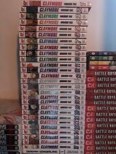 Claymore Manga English Vol. 1-27 Complete Set