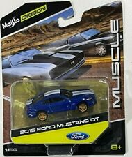 2015 Ford Mustang (Maisto) Blue 1/64 Scale Diecast Car