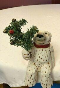 The David Frykman Portfolio mantel Polar bear Holiday figurine