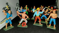 Starlux Vintage Plastic Pirate Figures Lot of 11 Buccaneers & Pirates