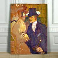 "TOULOUSE LAUTREC - The Englishman Moulin Rouge - CANVAS ART PRINT POSTER -24x16"""