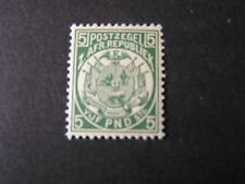 TRANSVAAL, SCOTT # 135, 5 pound VALUE 2ND. REPUBLIC COAT OF ARMS 1892 ISSUE MVLH