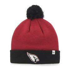 NFL 47 Brand Bounder Beanie Knit Hat with Pom (OSFM, Arizona Cardinals)