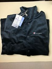 Champion Velour Bomber Jacket -Navy Blue- mens Size Large