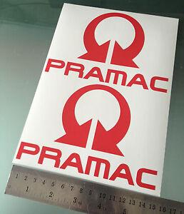 PRAMAC Decals / Stickers Moto GP Pramac Ducati Team Sponsor (150 x 100mm) X2