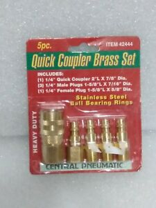 Central Pneumatic Quick Coupler Brass Set 5 Piece - 42444 New in package