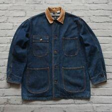 Vintage Ralph Lauren Denim Chore Jacket Size M Work Coat Jean Polo