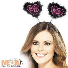 Bride to Be Black Boppers on Headband Hen Night Party Fancy Dress Costume Access