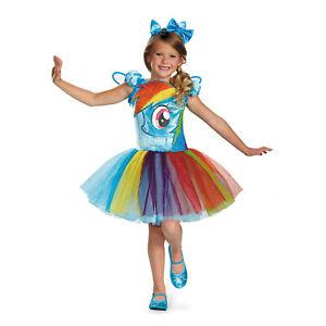 My Little Pony Rainbow Dash Tutu Prestige Costume Girls SIZE:  3T-4T, 4-6, 7-8