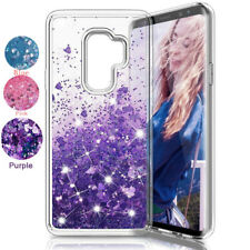 For Samsung S9 S8 Note 9 A7 2018 Case Glitter Liquid Quicksand Clear Soft Cover