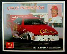CRUZ PEDREGON 1992  AUTOGRAPHED McDONALD'S DRAG RACING HANDOUT
