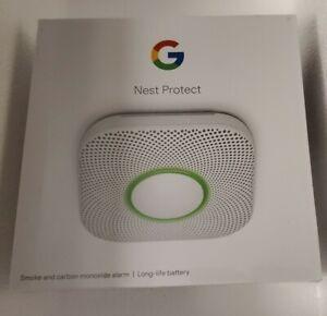Google Nest Protect Battery Smart Smoke & Carbon Monoxide Alarm NEW SEALED