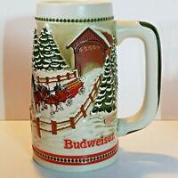 Budweiser 1984 Bud Holiday Stein Christmas Beer Mug Series Tradition CS62