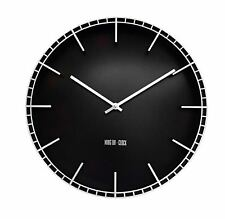 XL  Uhr Wanduhr mit 12 Stundenanzeige Analog Batteriebetrieben Geräuschlos 38 cm