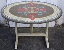 TABLE DE VIGNERON , décor floral,