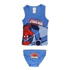 6/8 ans BLEU * Ensemble Débardeur / Slip Spider-man 95% Coton 5% Élasthanne
