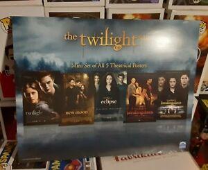 The Twilight Saga Mini set of all 5 Theatrical Posters **Never used**