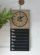 Wooden Wall Vintage Kitchen Weekly Planner Organiser Memo Chalk board Blackboard